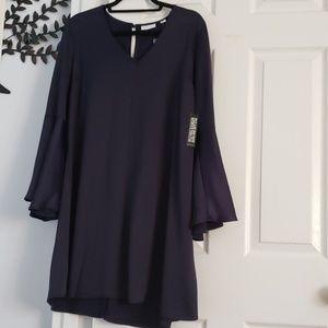 NYC Navy Blue Satin Dress